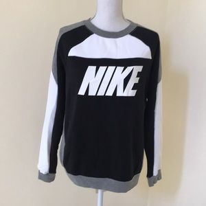 NWOT! Nike Large grey combo fleece lined L/S tee